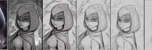 Hooded raven WIP by 14-bis