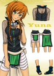 Yuna -Naruto outfit by knilzy95