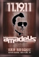 flyer for dj amadeus by sounddecor