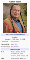 New Mexico Governor Russell Means by FederalRepublic