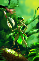 Jungle Elf Girl by Gilmec