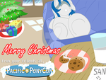 PacificPonyCon Christmas Art by alienkittykun