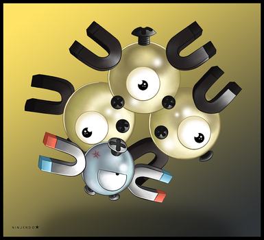 Magnemite and Magneton by Ninjendo