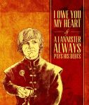 Game of Thrones Valentine - Tyrion Lannister by arosenlund
