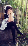 AX Maid Cafe - Lowen by r-lowen