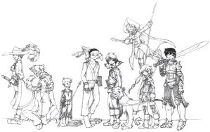 Updated DnD group - line art by Desi-Designs