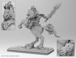 Darksaiders Horseman Modelling Back view by SUPERMOUSE81