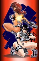 Dirty Pair Commission by voltesfibz