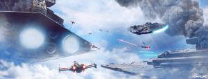 Star Wars - Epic Sky Battle by Dylan-Kowalski
