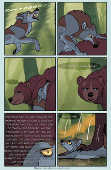 Wolf vs Bear by Flora-Tea