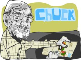 Chuck Jones Tribute Art by jeaux