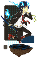 The Blue Exorcist by FrozenTimez