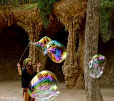 Barcelona's bubble blower by ValerioSeraf