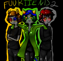 Sollux, Nepeta, and Karkat by evillovebunny500