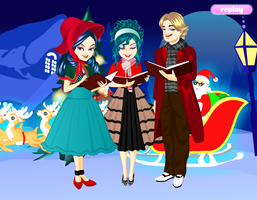 Christmas Carolers  by alyson34567