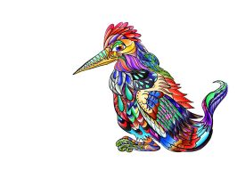 All colours on a bird by Sulfura