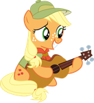 [MLP] Filly Applejack Playing on Guitar by AnonimowyBrony