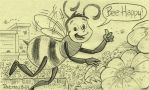 Bee Doodle on Post-It note by WillPetrey