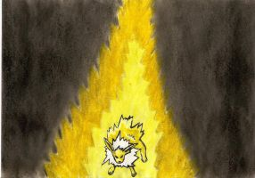 Angry Jolteon by DreamingDragon-Fly