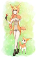 deerling gijinka by majigoma