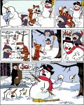 Calvin and Hobbes meet Frosty the Snowman by MontyRohde