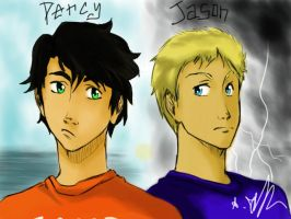 Percy and Jason by Sango94