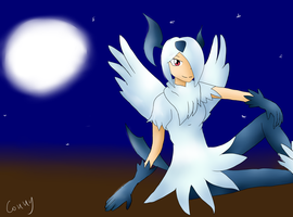 Mega Absol Gijinka - Digital Art by Conny93