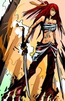 Daily_Practice_2: Erza from Fairy Tail by VeritasX5