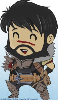 Dragon Age 2 - Chibi Hawke by Dakkita