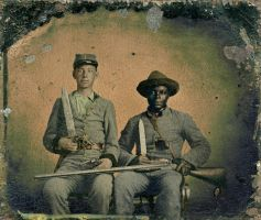 Andrew and Silas Chandler Tintype - Colorized by OldHank