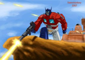 Optimus Prime by Slainmonkey