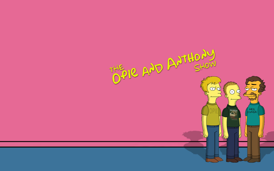 Opie and Anthony Simpsonized 2 by gr8whtd0pe