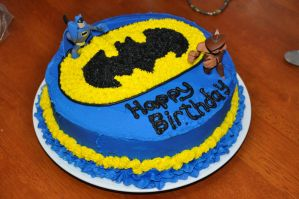 Batman Birthday Cake by cjraines