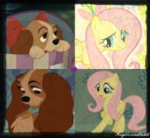 Lady X Fluttershy Collage by Angelicsweetheart