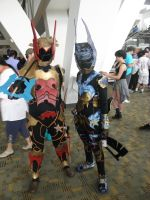 Otakon 2013 - Terra and Ventus by mugiwaraJM