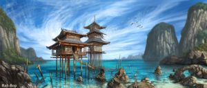 Tropical Temple by rah-bop