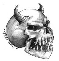 Demon Skull by Kezzo