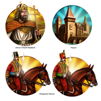 Civilization 5 Icons: Hungary by JanBoruta