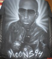 airbrushed T-shirt Black white by NeoGzus