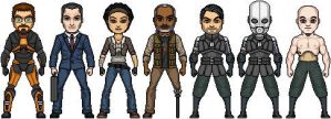 Updated Half Life Micro Heroes by JohnnyMuffintop