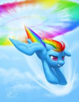 Sonic Rainboom by dracontiar