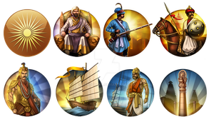 Civ 5 Mod Icons - India Civilization Pack by JanBoruta