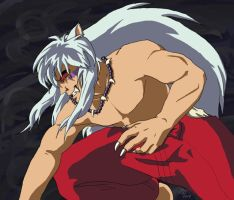 Demon InuYasha by CarnivorousCaribou