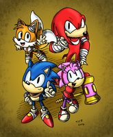 Classic Sonic Boom by The Fat Panda by MamboCat