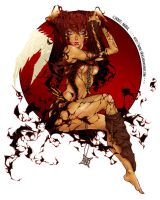 +-+-The Red Moon-+-+ by aKiRa-666