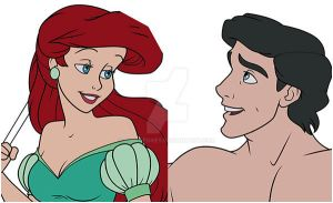 Ariel and Eric WIP Preview by LathronAniron