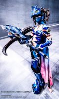 Vayne Dragonslayer Cosplay 1 by IssabelCosplay