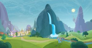 Untitled Ponyville background (Old) by MintyRoot