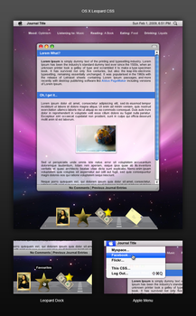 OS X Leopard CSS by cssdesigns