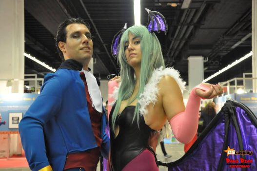 Morrigan and Demitri cosplay - Killer looks by JudyHelsing